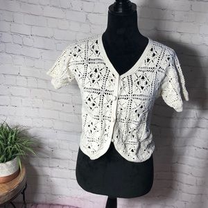 One Step up crocheted top